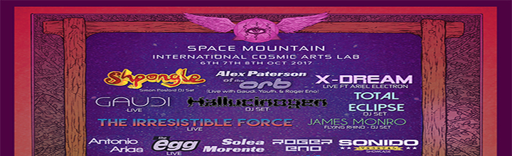 Space Mountain - International Cosmic Arts Lab- Party <BR> Any One  Day Pass Only