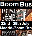 Boom Bus Return Trip from Madrid to the festival and back (Click here for  times)